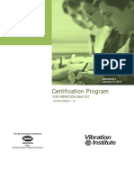 Vibration Analysis Certification Handbook - Final - Rev 5
