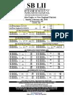 SBLII Prop Bet sheet
