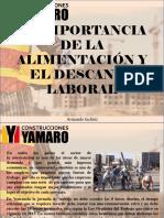 Armando Iachini - La importancia de la alimentación y el descanso laboral