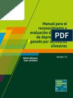 Manual Para El Reconocimiento y Evaluación de Eventos de Depredación de Ganado Por Carnívoros Silvestres