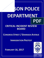 TPD report on downtown protests