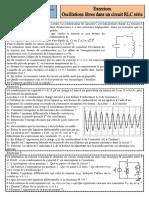Exercices 2 Oscillations Libres Dans Un Circuit RLC en Série