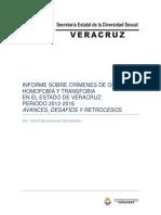 Diagnostico Crimenes de Odio Por Homo-lesbo-transfobia en Veracruz