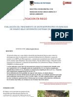 Evaluacion Del Rendimiento de Microaspersores en Bancasa de Ensayo Bajo Diferentes Sistemas de Aplicacion