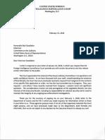 FISA Court Presiding Judge Rosemary M Collyer Response to Chairman Goodlatte