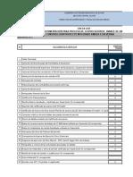 Check List Planillas de Avance de Obra