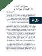 Recomendaciones Para Prevenir y Mitigar Impacto de Heladas