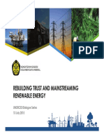Rebuilding trust and mainstreaming renewable energy