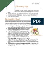 bicycle safety vanwagenen lauren