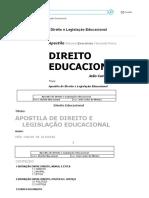 Direito Educacional - Direito e Legislação Educacional