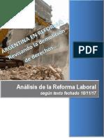 Proyecto de Reforma Laboral Presentado en El Congreso El 18-11-17