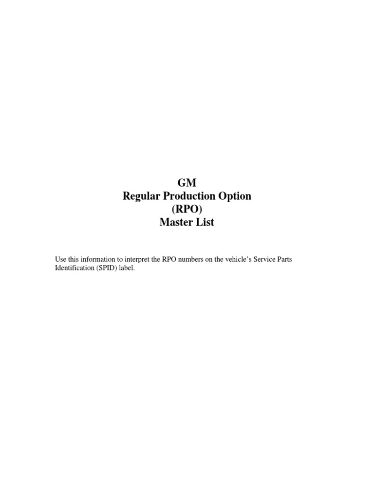 gmc option package complete list pdf rh es scribd com