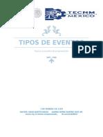 TIPOS DE EVENTOS tópicos avanzados de programación