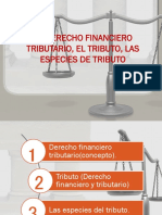 El Derecho Financiero Tributario, El Tributo, Las Especies de Tributo
