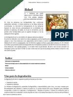Biodegradabilidad - Wikipedia, La Enciclopedia Libre