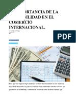 La Importancia de La Contabilidad en El Comercio Internacional