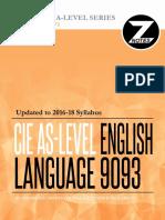 Cie as English Language 9093 Znotes