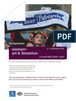 Women, Art and Feminsim in Australia Since 1970 Symposium - Small Schedule