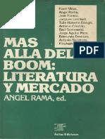 Ángel Rama, Más Allá Del Boom Literatura y Mercado
