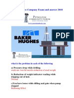 Baker Hughes Company Exam and Answer 2018