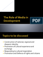 the Role of Media in Development 1