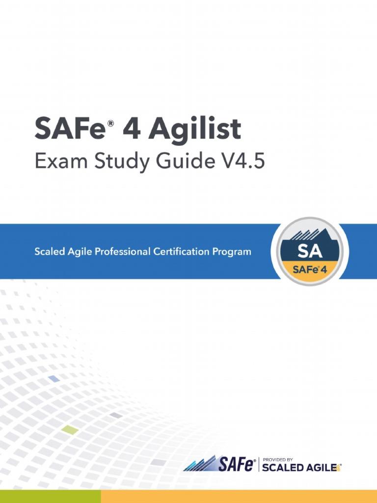 Sa4 Study Guide Scrum Software Development Agile Software