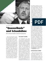 """""""Quasselbude"""" und Schaubühne - Die extreme Rechte und die Parlamente LOTTA #25"""