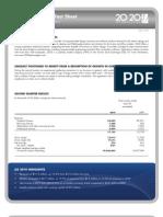 Q2'10 • Investor Fact Sheet
