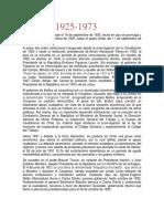 chile Periodo 1925-1973
