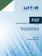 Recommandation UIT-R SM.1880-1 (08/2015) Mesure et évaluation de l'occupation du spectre
