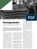 """Krisengewinnler - Mit einem """"Antikapitalismus von Rechts"""" soll die soziale Frage nationalisiert werden LOTTA #26"""