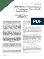 A Success Story of Mgnregs at a Remote Gangaraju Madugula Mandal of Visakhapatnam