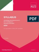 Pre U Syllabus 2016 2018