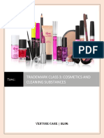 Trademark Class 3 Cosmetics and Cleaning Substances