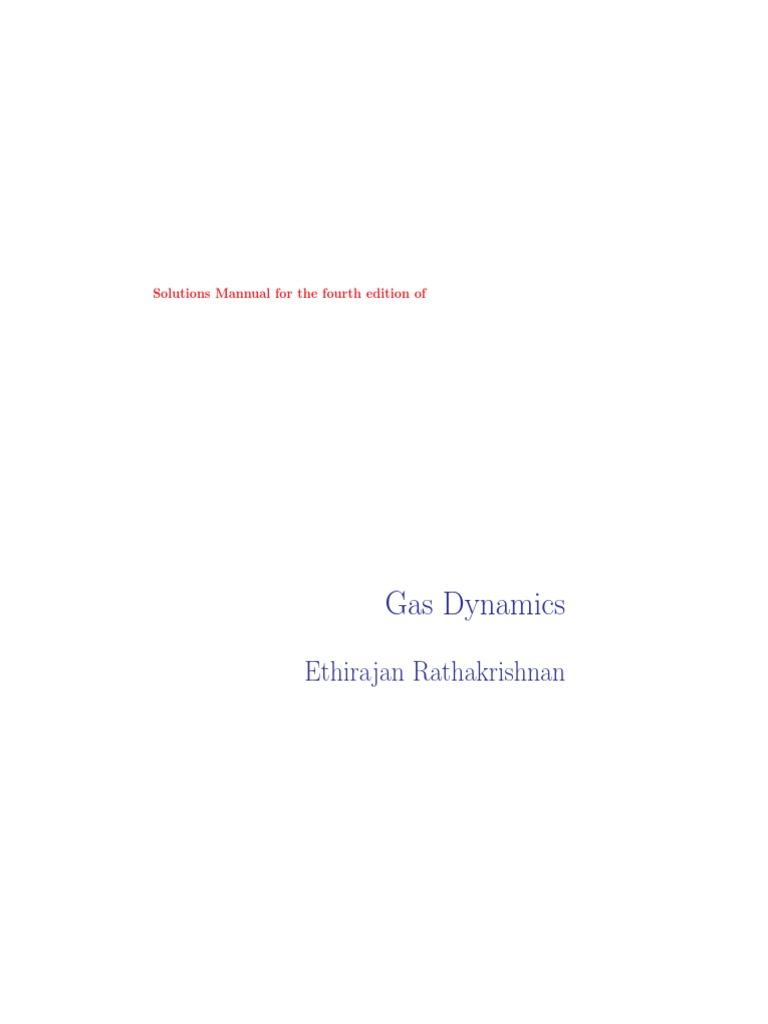 E Rathakrishnan Gas Dynamics Solutions | Compressible Flow | Fluid Dynamics