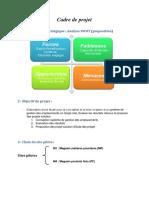 Cadre & Plan Projet Modifier