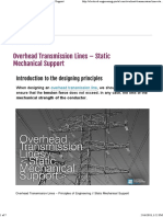 Overhead Transmission Lines - Static Mechanical Support