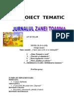Proiect Tematic Jurnalul Toamnei
