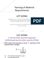 The Planning of Material Requirements 4