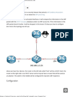 DAI (Dynamic ARP Inspection)