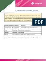SWP Radio Frequency Transmitting Apparatus