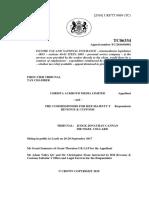Christa Ackroyd Tax Appeal Ruling Feb 2018