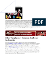 Situs Tangkasnet Bayaran Terbesar Indonesia