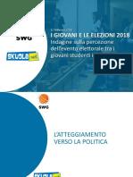 Indagine 'Giovani e Politica' (elezioni 2018) - Skuola.net e SWG
