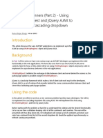 XMLHttpRequest and JQuery AJAX to Implement a Cascading Dropdown
