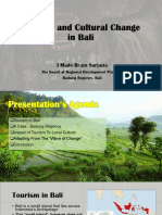 Tourism and Cultural Change in Bali 2.0