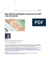 New Skill List and English Requirement for 457 Visa Announced _ SBS Your Language