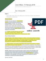 Insightsonindia.com-Insights Daily Current Affairs 13 February 2018