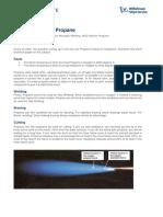 Technical Update Gas Welding Acetylene vs Propane