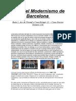 Ruta Del Modernismo de Barcelona